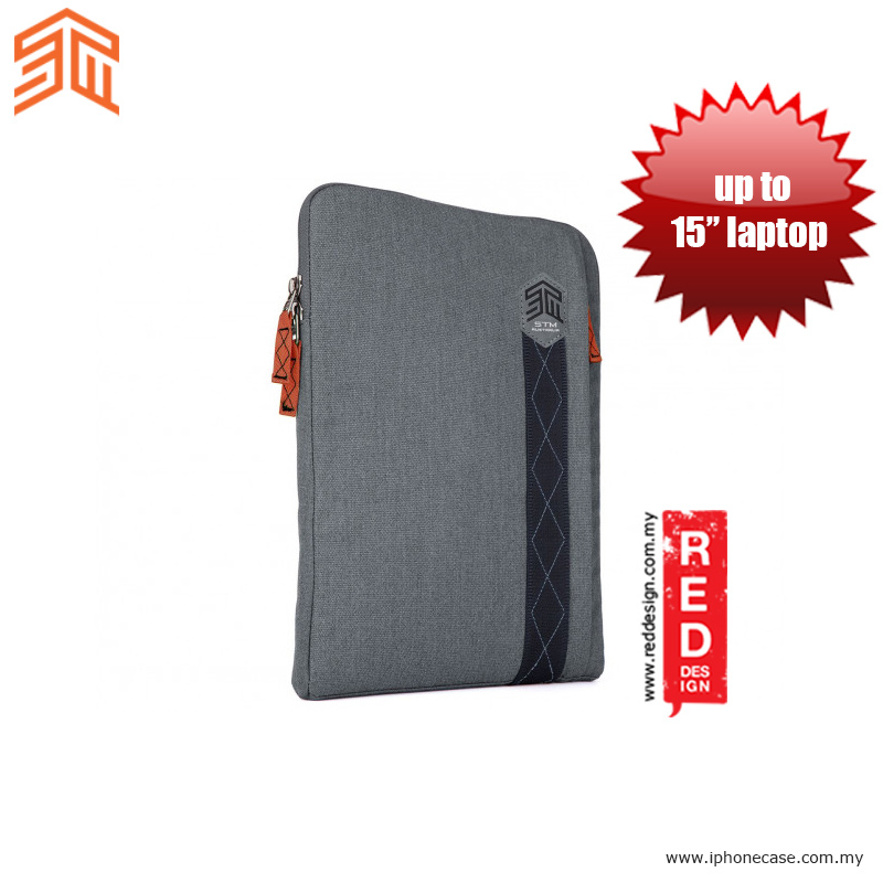 "Picture of STM Ridge laptop Sleeve up to 15"" - Tornado Grey Red Design- Red Design Cases, Red Design Covers, iPad Cases and a wide selection of Red Design Accessories in Malaysia, Sabah, Sarawak and Singapore"