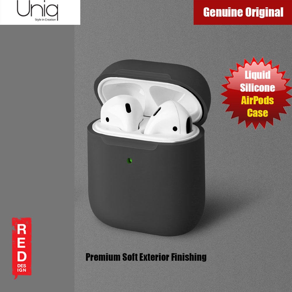 Picture of Uniq Lino Airpod Liquid Silicone Case for Airpods 1 and Airpods 2 (Black Grey) Apple Airpods 2- Apple Airpods 2 Cases, Apple Airpods 2 Covers, iPad Cases and a wide selection of Apple Airpods 2 Accessories in Malaysia, Sabah, Sarawak and Singapore