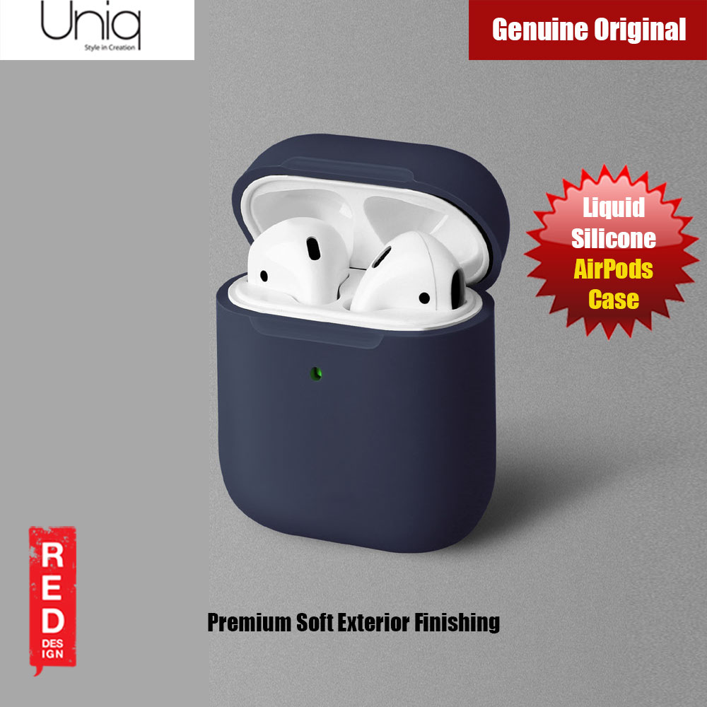 Picture of Uniq Lino Airpod Liquid Silicone Case for Airpods 1 and Airpods 2 (Dark Blue) Apple Airpods 2- Apple Airpods 2 Cases, Apple Airpods 2 Covers, iPad Cases and a wide selection of Apple Airpods 2 Accessories in Malaysia, Sabah, Sarawak and Singapore