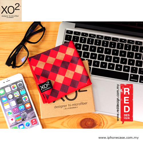 Picture of XO2 Design Hi-Microfiber for iPad Camera Laptop Eye Glasses Handkerchief - Classic Check Red