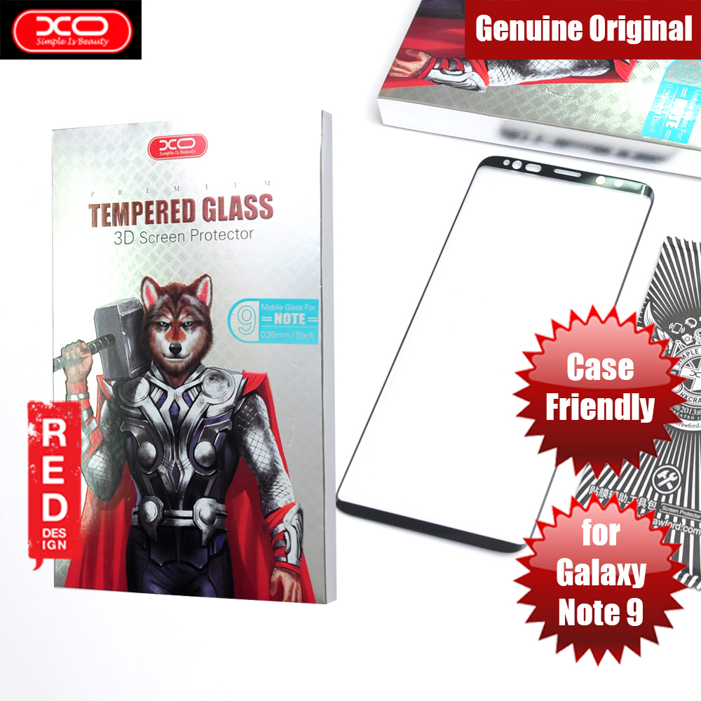 Picture of XO 3D Curve Edge Full Coverage Tempered Glass for Samsung Galaxy Note 9 Case Friendly (Black) Samsung Galaxy Note 9- Samsung Galaxy Note 9 Cases, Samsung Galaxy Note 9 Covers, iPad Cases and a wide selection of Samsung Galaxy Note 9 Accessories in Malaysia, Sabah, Sarawak and Singapore