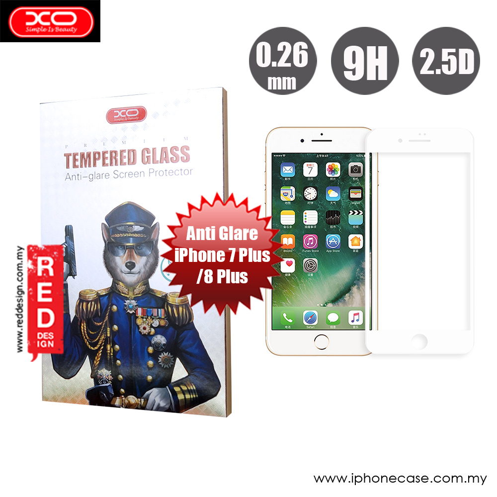 Picture of XO Anti Glare Tempered Glass for Apple iPhone 7 Plus iPhone 8 Plus 5.5  (Anti Glare White) Apple iPhone 8 Plus- Apple iPhone 8 Plus Cases, Apple iPhone 8 Plus Covers, iPad Cases and a wide selection of Apple iPhone 8 Plus Accessories in Malaysia, Sabah, Sarawak and Singapore