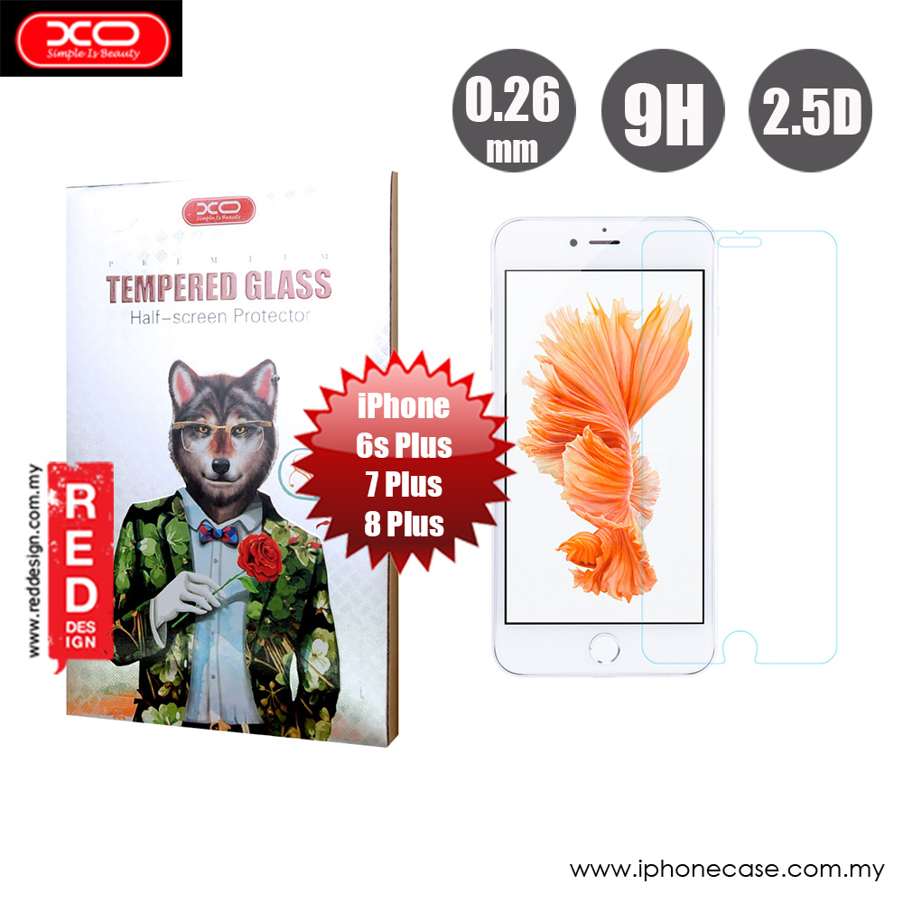 Picture of Apple iPhone 8 Plus  | XO Premium Tempered Glass for Apple iPhone 6S Plus 7 Plus 8 Plus 5.5 (0.26mm Clear)