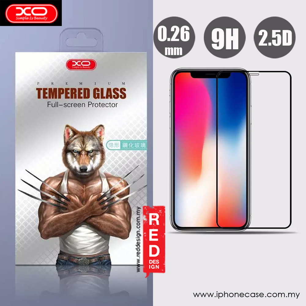 Picture of Apple iPhone X  | XO Invisible High Quality Tempered Glass for Apple iPhone X (Black)