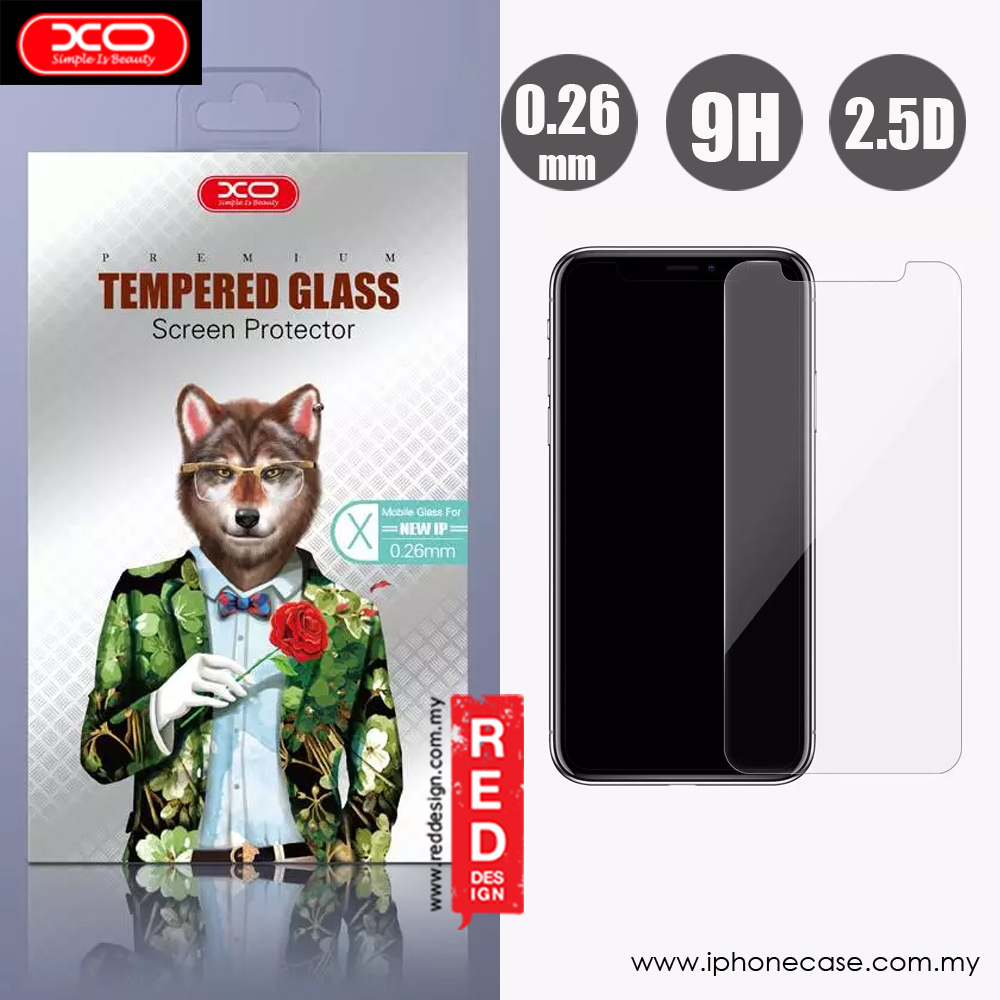 Picture of XO Premium Tempered Glass for Apple iPhone XS iPhone X (0.26mm Clear) Apple iPhone X- Apple iPhone X Cases, Apple iPhone X Covers, iPad Cases and a wide selection of Apple iPhone X Accessories in Malaysia, Sabah, Sarawak and Singapore