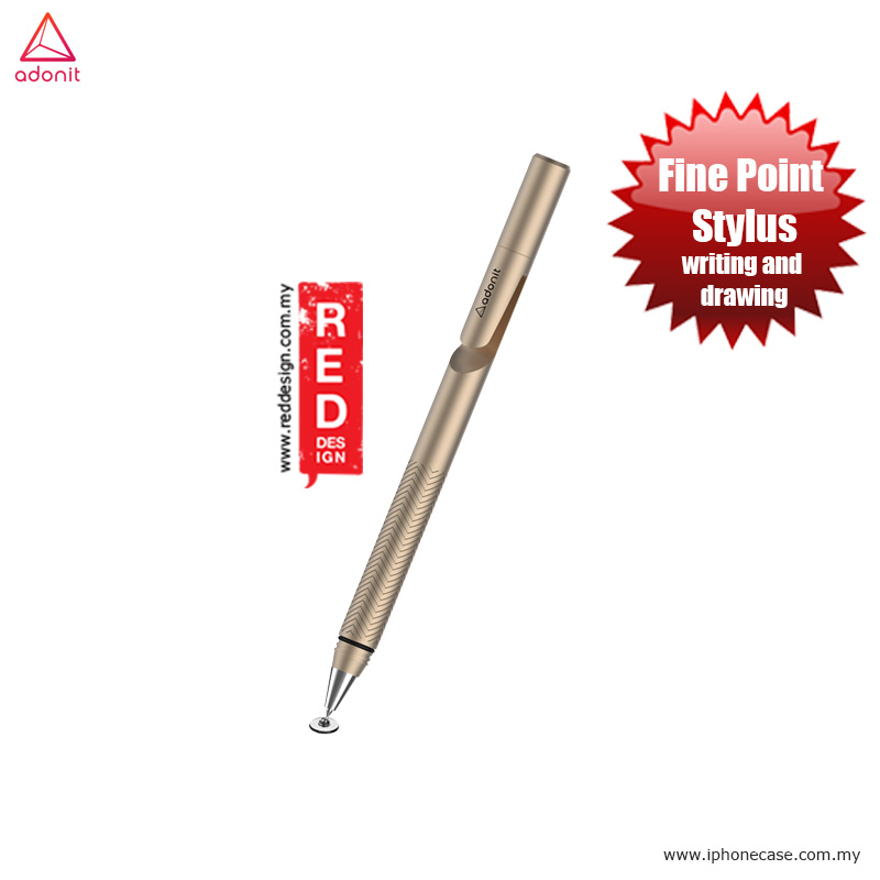 Picture of Adonit Jot 2.0 Pro Fine Point Stylus with Aluminium and Steel Body - Gold Apple iPad Pro 9.7- Apple iPad Pro 9.7 Cases, Apple iPad Pro 9.7 Covers, iPad Cases and a wide selection of Apple iPad Pro 9.7 Accessories in Malaysia, Sabah, Sarawak and Singapore