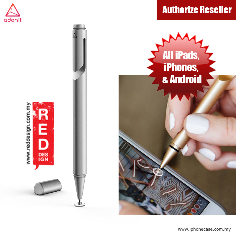 Picture of Adonit Jot Mini 3.0 Fine Point Stylus with Aluminium and Steel Body - Silver Apple iPad Pro 9.7- Apple iPad Pro 9.7 Cases, Apple iPad Pro 9.7 Covers, iPad Cases and a wide selection of Apple iPad Pro 9.7 Accessories in Malaysia, Sabah, Sarawak and Singapore