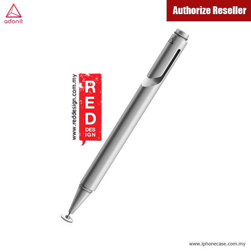 Picture of Apple iPad Pro 9.7  | Adonit Jot Mini 3.0 Fine Point Stylus with Aluminium and Steel Body - Silver