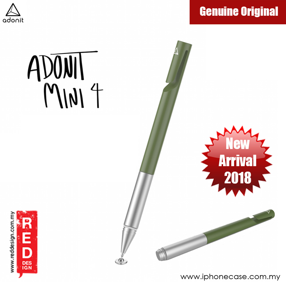 Picture of Adonit Mini 4 Precision Disc Stylus Compatible to All Touchscreens (Olive Green) Samsung Galaxy Note 8- Samsung Galaxy Note 8 Cases, Samsung Galaxy Note 8 Covers, iPad Cases and a wide selection of Samsung Galaxy Note 8 Accessories in Malaysia, Sabah, Sarawak and Singapore