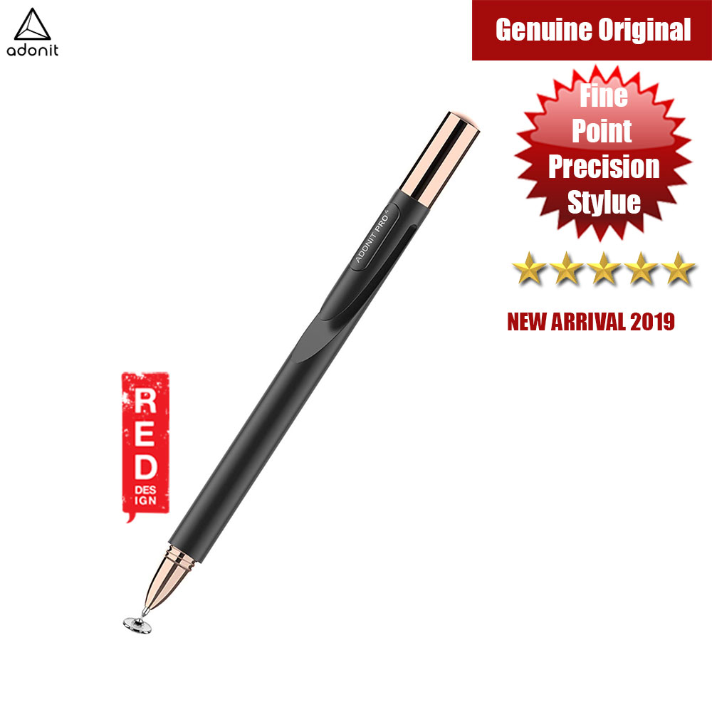 Picture of Adonit Jot Pro 4 A Luxury High-Precision Disc Stylus for iPad iPhone Xs Max Galaxy Fold Android Kindle Windows Tablets and All Touchscreens (Black) Apple iPad 2- Apple iPad 2 Cases, Apple iPad 2 Covers, iPad Cases and a wide selection of Apple iPad 2 Accessories in Malaysia, Sabah, Sarawak and Singapore