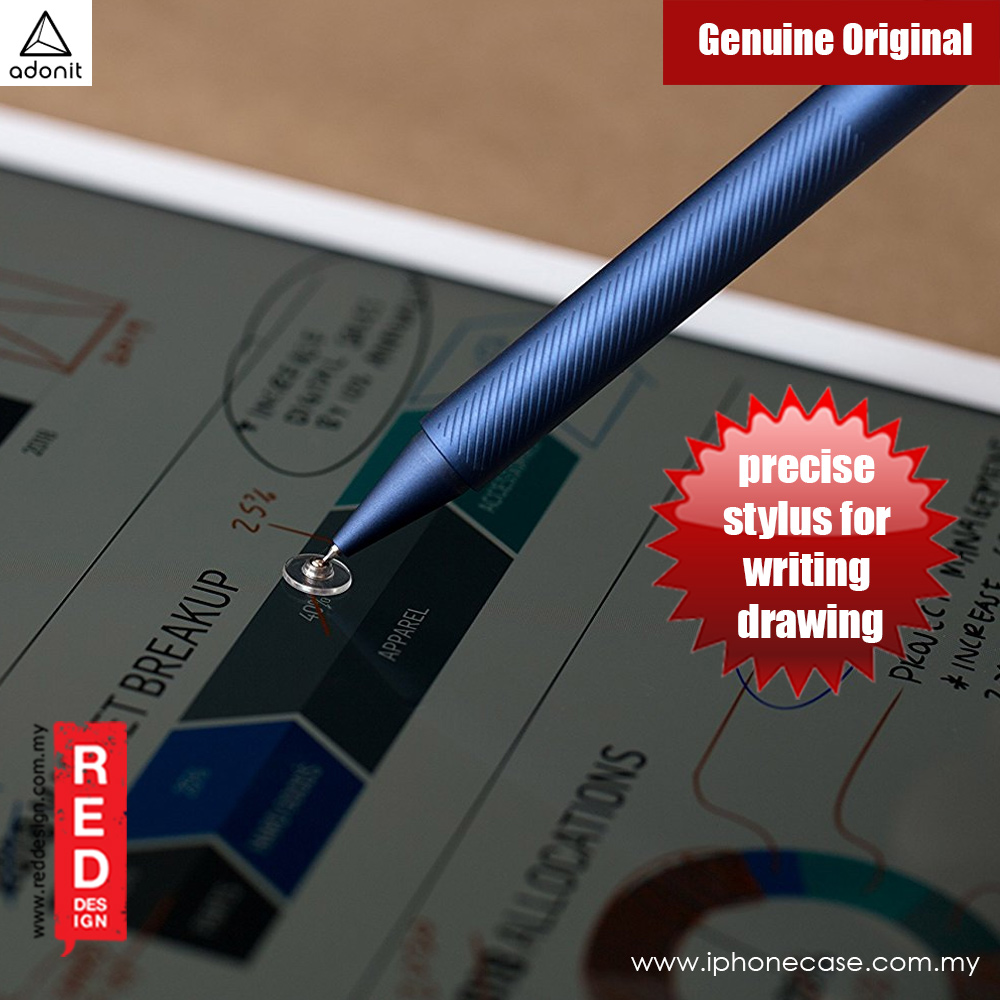 Picture of Apple iPad Pro 9.7  | Adonit ADP3S Pro 3 Fine Point Precision Stylus for Touchscreen Devices (Midnight Blue)