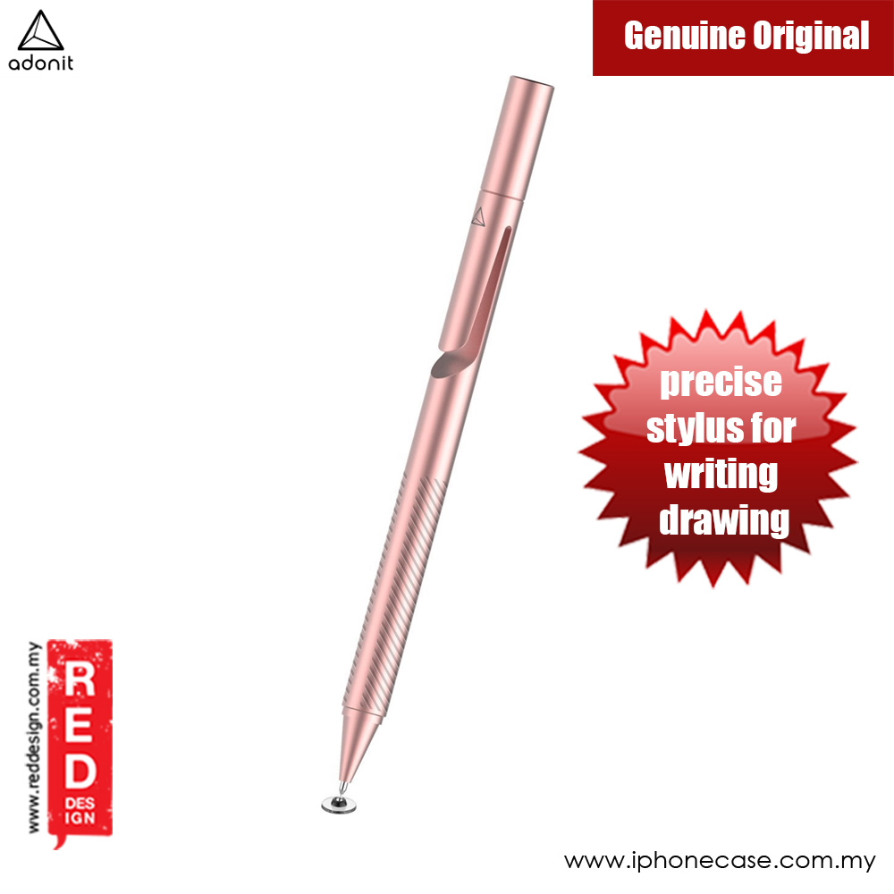 Picture of Apple iPad 2  | Adonit ADP3S Pro 3 Fine Point Precision Stylus for Touchscreen Devices (Rose Gold)