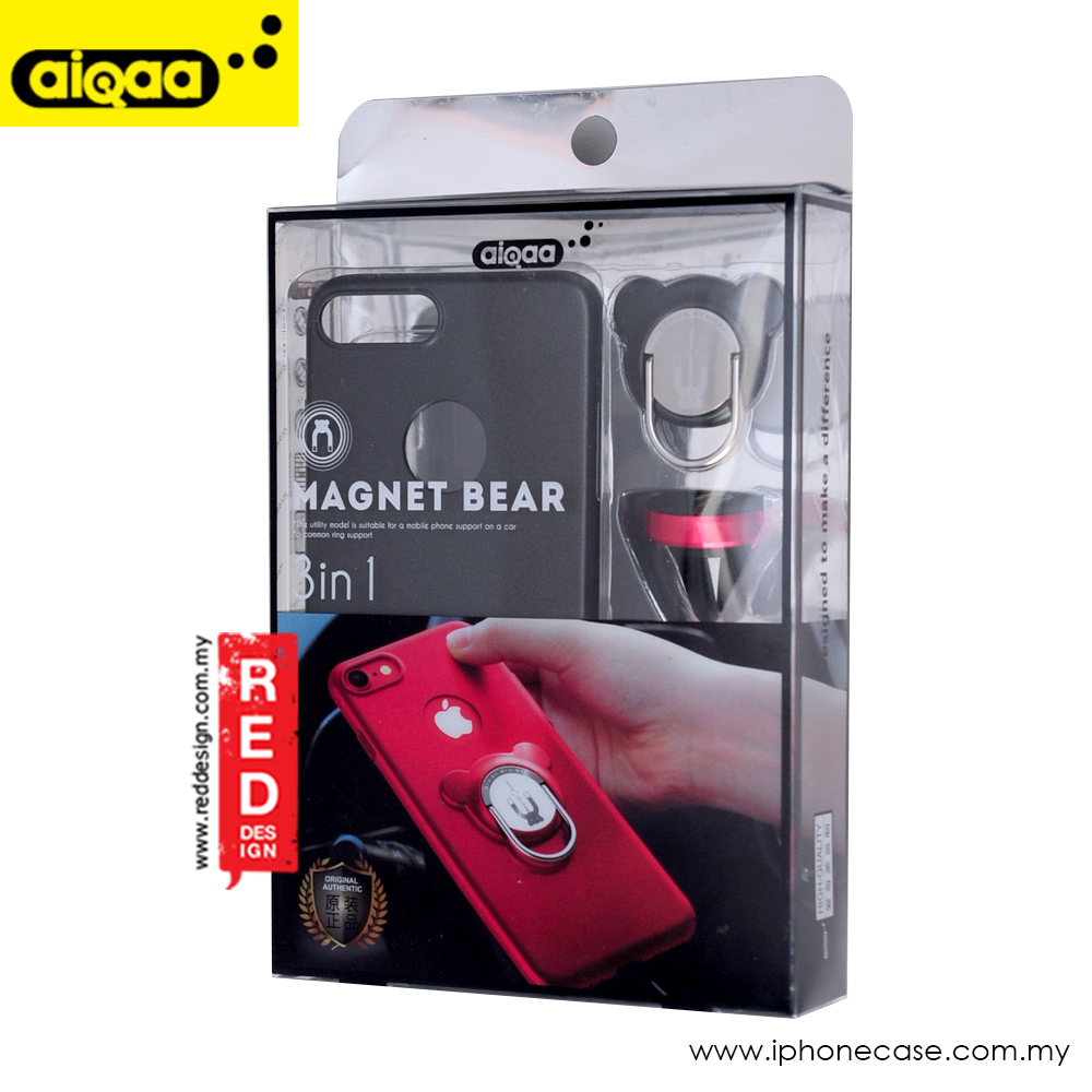 Picture of Apple iPhone 8 Plus  | AIQAA 3 in 1 Magnet Bear Series for Apple iPhone 7 Plus iPhone 8 Plus 5.5 - Black
