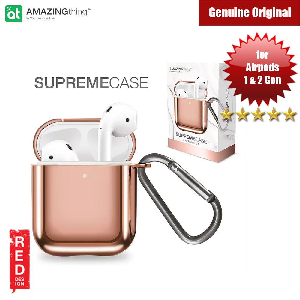 Picture of Amazingthing SupremeCase Solid for Airpods 1 Airpods 2 (Rose Gold) Apple Airpods 2- Apple Airpods 2 Cases, Apple Airpods 2 Covers, iPad Cases and a wide selection of Apple Airpods 2 Accessories in Malaysia, Sabah, Sarawak and Singapore