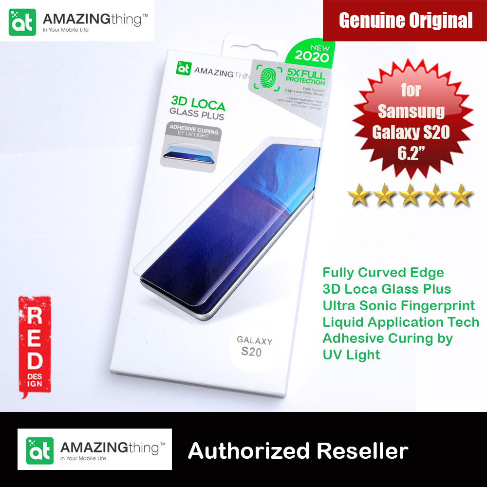 Picture of AMAZINGThing 3D Loca Glass Plus Fully Curved Edge Glass Ultra Sonic Fingerprint Support Glass for Samsung Galaxy S20 6.2 with UV Light Installation Tools iPhone Cases - iPhone 12, iPhone 12 Pro max, iPhone 11, iPhone 11 Pro Max, iPhone XS Max, iPhone X,iPhone SE,Galaxy Note 20 Ultra ,iPhone 8 Plus Cases Malaysia,iPad Air Pro Cases and a wide selection of Accessories in Malaysia, Sabah, Sarawak and Singapore.
