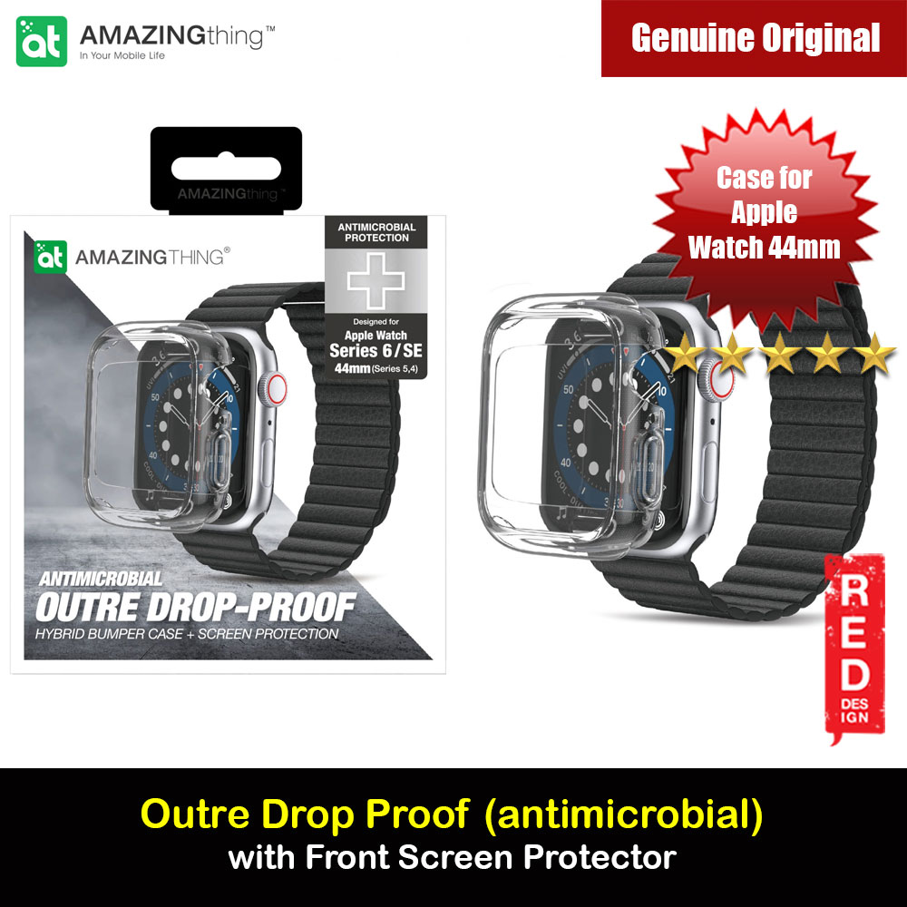 Picture of Amazingthing Outre Drop Proof Case with Front Built in Screen Protector for Apple Watch 44mm Series 4 5 6 SE (antimicrobial Clear) Apple Watch 44mm- Apple Watch 44mm Cases, Apple Watch 44mm Covers, iPad Cases and a wide selection of Apple Watch 44mm Accessories in Malaysia, Sabah, Sarawak and Singapore