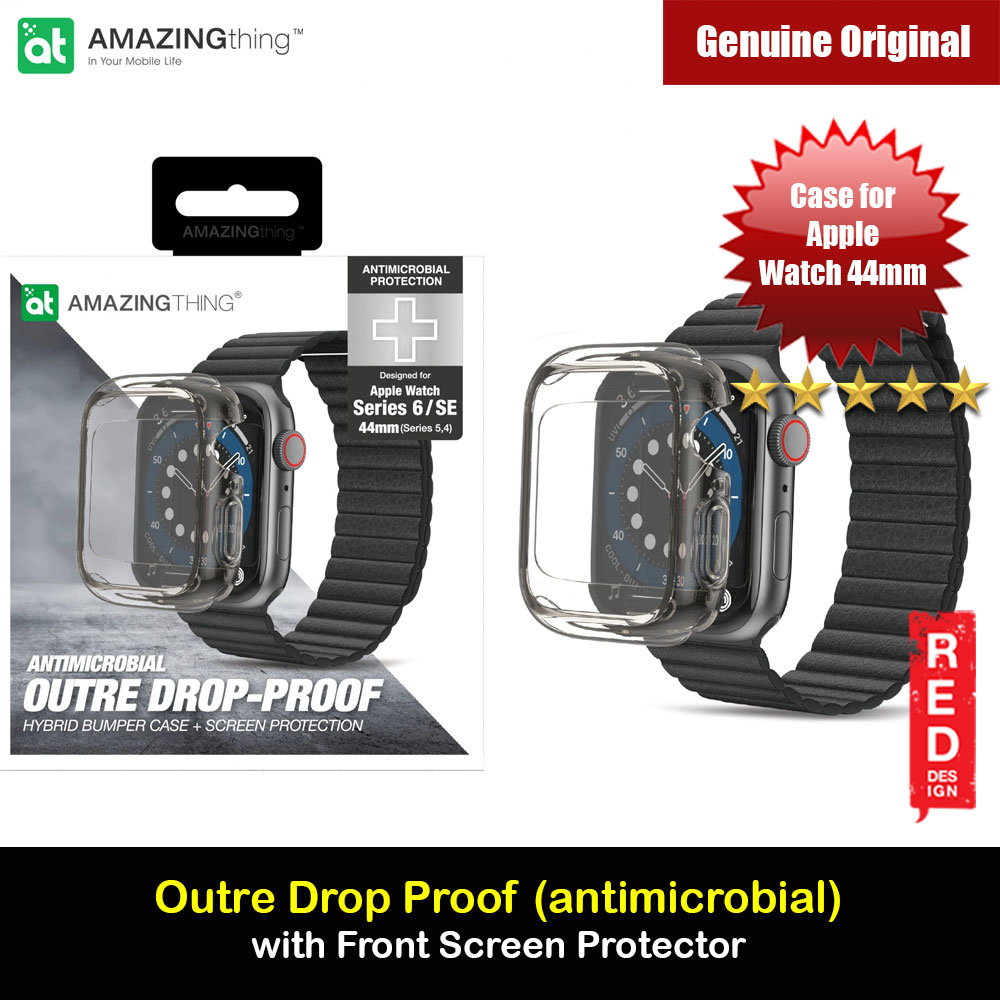 Picture of Amazingthing Outre Drop Proof Case with Front Built in Screen Protector for Apple Watch 44mm Series 4 5 6 SE (antimicrobial Grey) Apple Watch 44mm- Apple Watch 44mm Cases, Apple Watch 44mm Covers, iPad Cases and a wide selection of Apple Watch 44mm Accessories in Malaysia, Sabah, Sarawak and Singapore