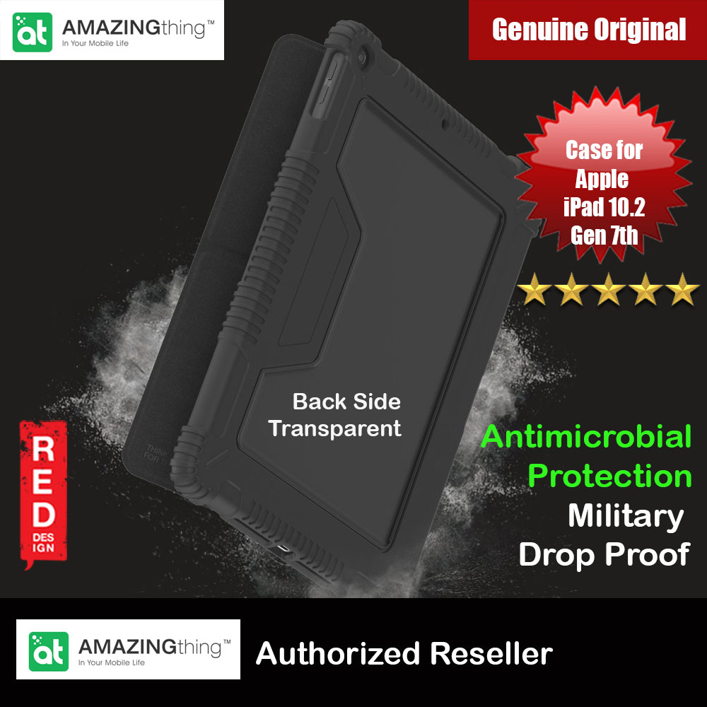 "Picture of AMAZINGthing MiL Drop proof Folio Flip Case with Antimicrobio Protection For Apple iPad Pro 12.9"" 2020 iPad Pro 12.9 4th Gen (Black) Apple iPad Pro 12.9 4nd gen 2020- Apple iPad Pro 12.9 4nd gen 2020 Cases, Apple iPad Pro 12.9 4nd gen 2020 Covers, iPad Cases and a wide selection of Apple iPad Pro 12.9 4nd gen 2020 Accessories in Malaysia, Sabah, Sarawak and Singapore"