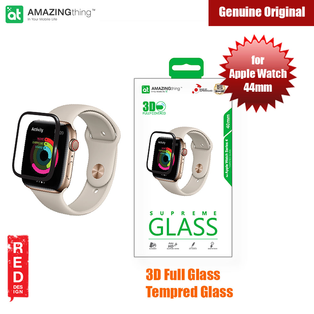 Picture of Amazingthing Full Screen Tempered Glass for Apple Watch 44mm (0.3mm Black ) Apple Watch 44mm- Apple Watch 44mm Cases, Apple Watch 44mm Covers, iPad Cases and a wide selection of Apple Watch 44mm Accessories in Malaysia, Sabah, Sarawak and Singapore
