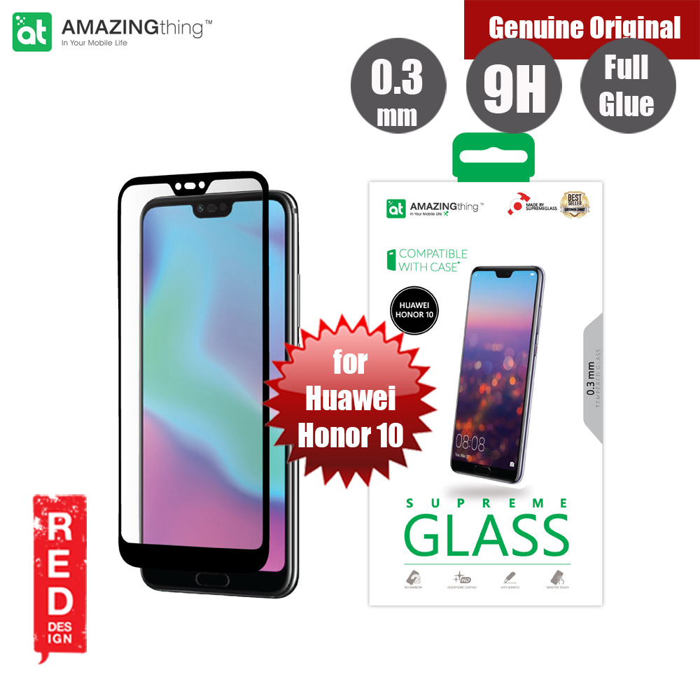 Picture of AMAZINGthing Supreme Glass 0.3mm Fully Covered Tempered Glass for Huawei Honor 10 (Full Glue Black) Huawei Honor 10- Huawei Honor 10 Cases, Huawei Honor 10 Covers, iPad Cases and a wide selection of Huawei Honor 10 Accessories in Malaysia, Sabah, Sarawak and Singapore