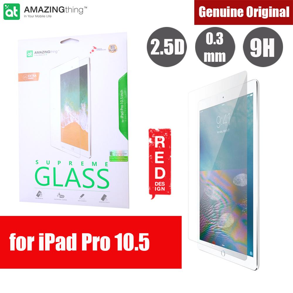 Picture of AMAZINGthing Premium SUPREMEGLASS Tempered Glass for Apple iPad Pro 10.5 0.33mm Apple iPad Pro 10.5 2017- Apple iPad Pro 10.5 2017 Cases, Apple iPad Pro 10.5 2017 Covers, iPad Cases and a wide selection of Apple iPad Pro 10.5 2017 Accessories in Malaysia, Sabah, Sarawak and Singapore