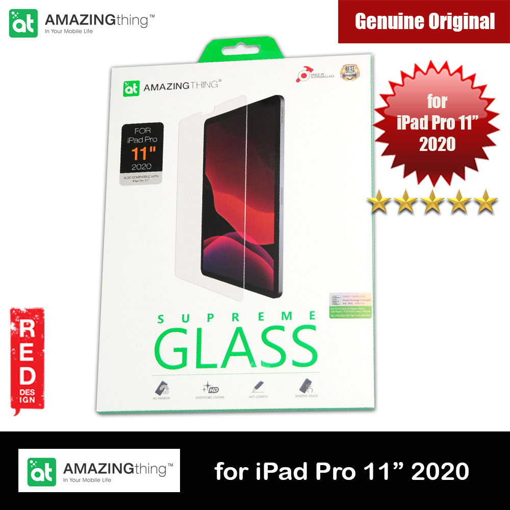 Picture of AMAZINGthing Premium SUPREMEGLASS Tempered Glass for Apple iPad Pro 11 2020 0.33mm Apple iPad Pro 11 2nd gen 2020- Apple iPad Pro 11 2nd gen 2020 Cases, Apple iPad Pro 11 2nd gen 2020 Covers, iPad Cases and a wide selection of Apple iPad Pro 11 2nd gen 2020 Accessories in Malaysia, Sabah, Sarawak and Singapore