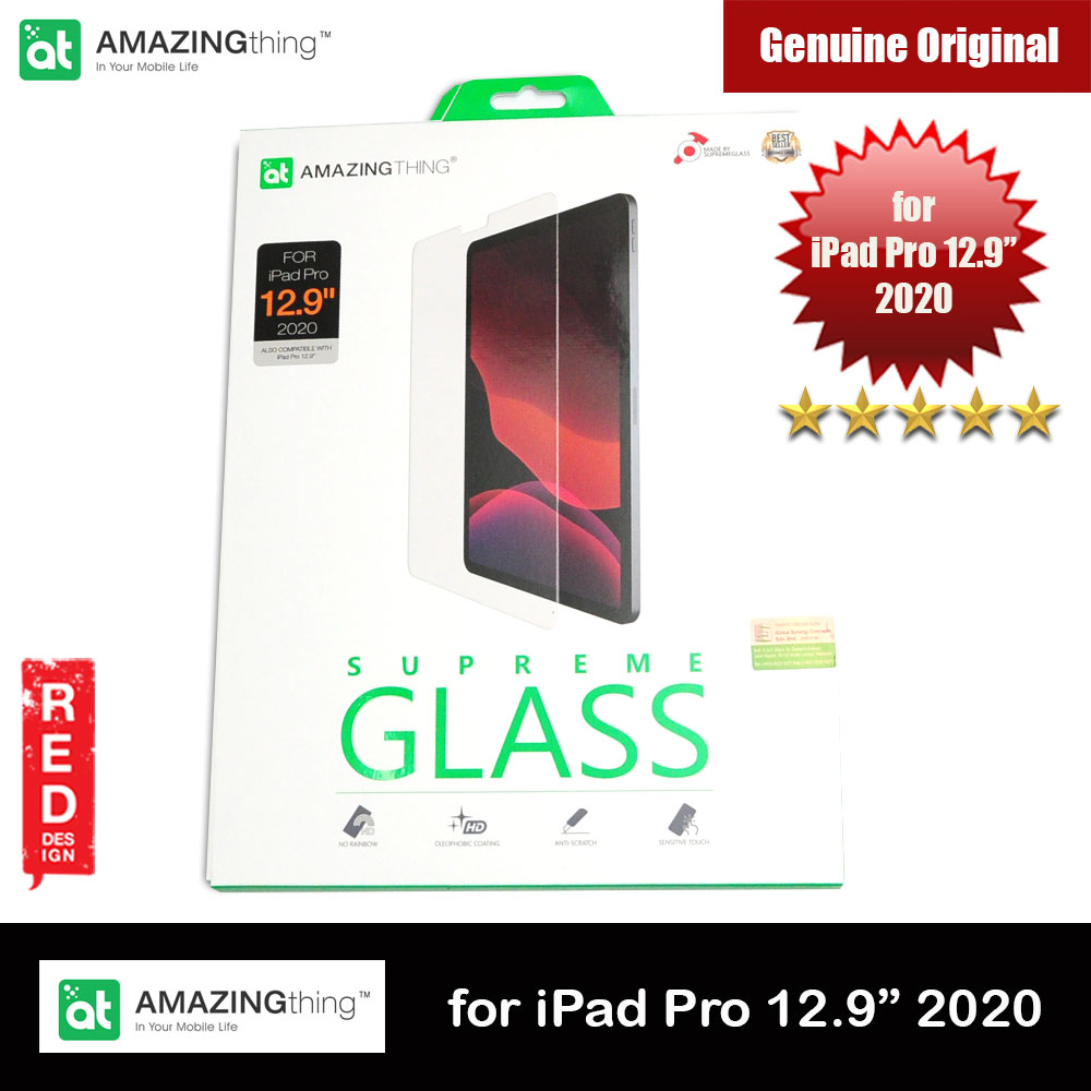 Picture of AMAZINGthing Premium SUPREMEGLASS Tempered Glass for Apple iPad Pro 12.9 2020 0.33mm Apple iPad Pro 12.9 4nd gen 2020- Apple iPad Pro 12.9 4nd gen 2020 Cases, Apple iPad Pro 12.9 4nd gen 2020 Covers, iPad Cases and a wide selection of Apple iPad Pro 12.9 4nd gen 2020 Accessories in Malaysia, Sabah, Sarawak and Singapore