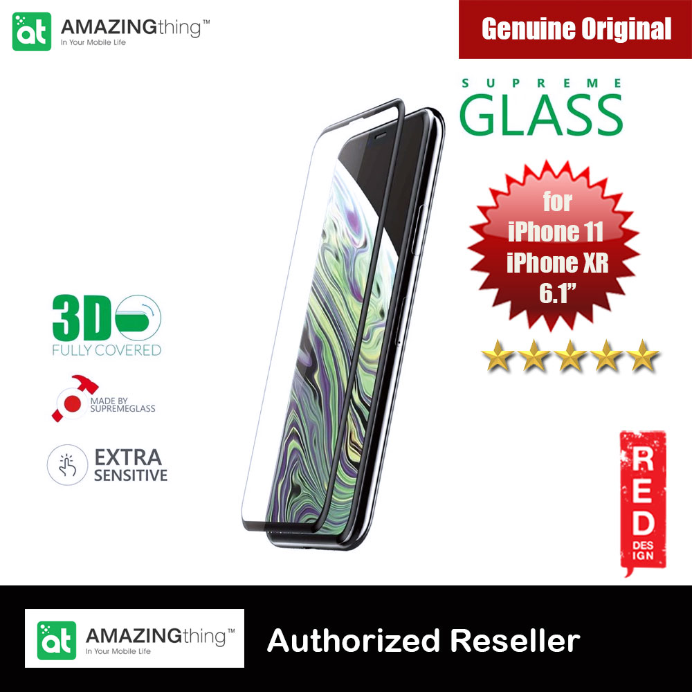 Picture of Amazingthing 3D Fully Covered Tempered Glass for Apple iPhone XR iPhone 11 6.1 (Black) Apple iPhone XR- Apple iPhone XR Cases, Apple iPhone XR Covers, iPad Cases and a wide selection of Apple iPhone XR Accessories in Malaysia, Sabah, Sarawak and Singapore