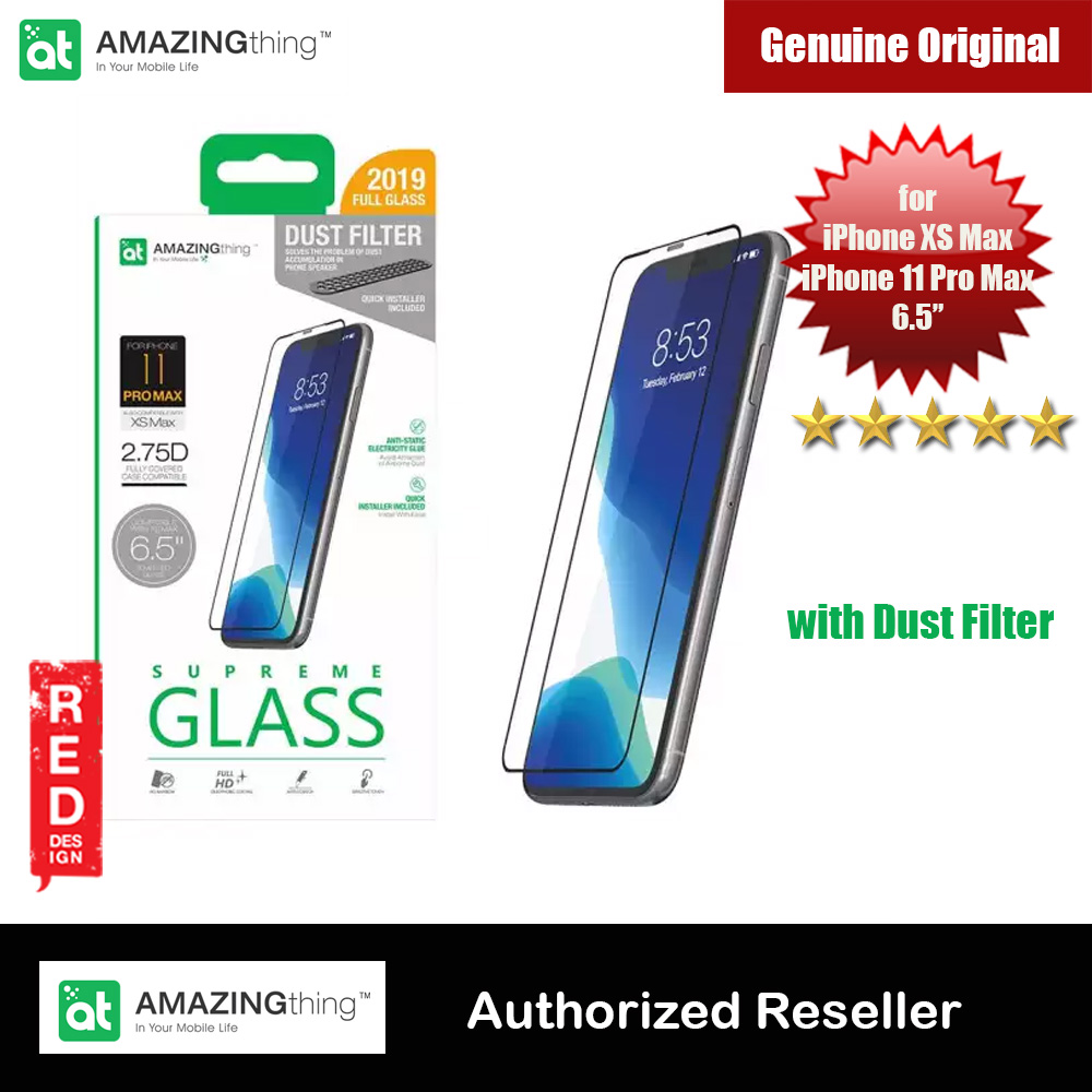 Picture of AMAZINGThing Supreme Glass 2.75D Tempered Glass for iPhone XS Max iPhone 11 Pro Max 6.5 with dust filter Apple iPhone XS Max- Apple iPhone XS Max Cases, Apple iPhone XS Max Covers, iPad Cases and a wide selection of Apple iPhone XS Max Accessories in Malaysia, Sabah, Sarawak and Singapore