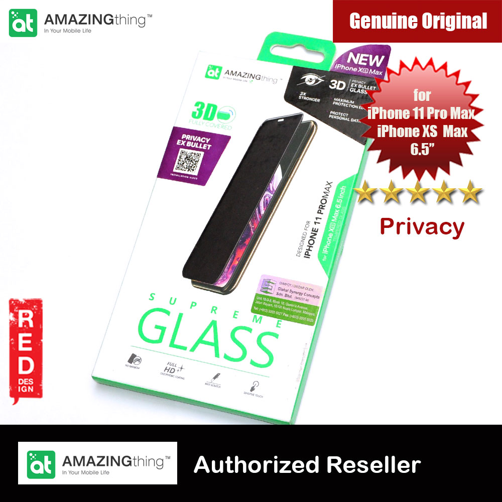 Picture of AMAZINGThing Supreme Glass 3D Anti View Anti Peep Privacy Tempered Glass for iPhone XS Max iPhone 11 Pro Max 6.5 (Anti View) Apple iPhone XS Max- Apple iPhone XS Max Cases, Apple iPhone XS Max Covers, iPad Cases and a wide selection of Apple iPhone XS Max Accessories in Malaysia, Sabah, Sarawak and Singapore