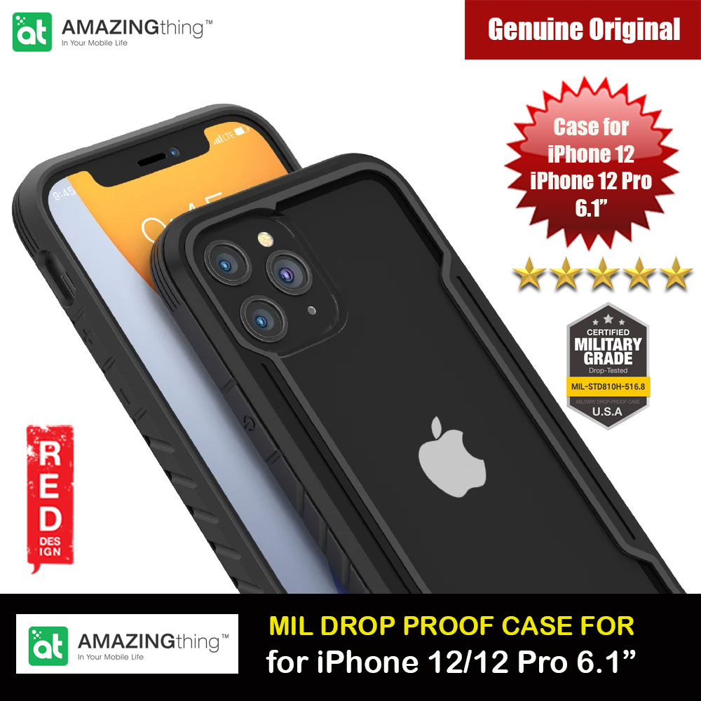Picture of Amazingthing Military Drop Proof Case for iPhone 12 iPhone 12 Pro 6.1 (Black) Apple iPhone 12 6.1- Apple iPhone 12 6.1 Cases, Apple iPhone 12 6.1 Covers, iPad Cases and a wide selection of Apple iPhone 12 6.1 Accessories in Malaysia, Sabah, Sarawak and Singapore