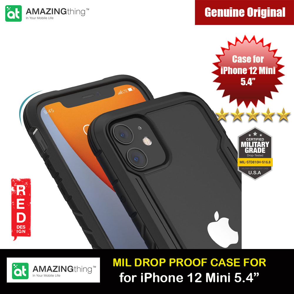 Picture of Amazingthing Military Drop Proof Case for iPhone 12 Mini 5.4 (Black) Apple iPhone 12 mini 5.4- Apple iPhone 12 mini 5.4 Cases, Apple iPhone 12 mini 5.4 Covers, iPad Cases and a wide selection of Apple iPhone 12 mini 5.4 Accessories in Malaysia, Sabah, Sarawak and Singapore