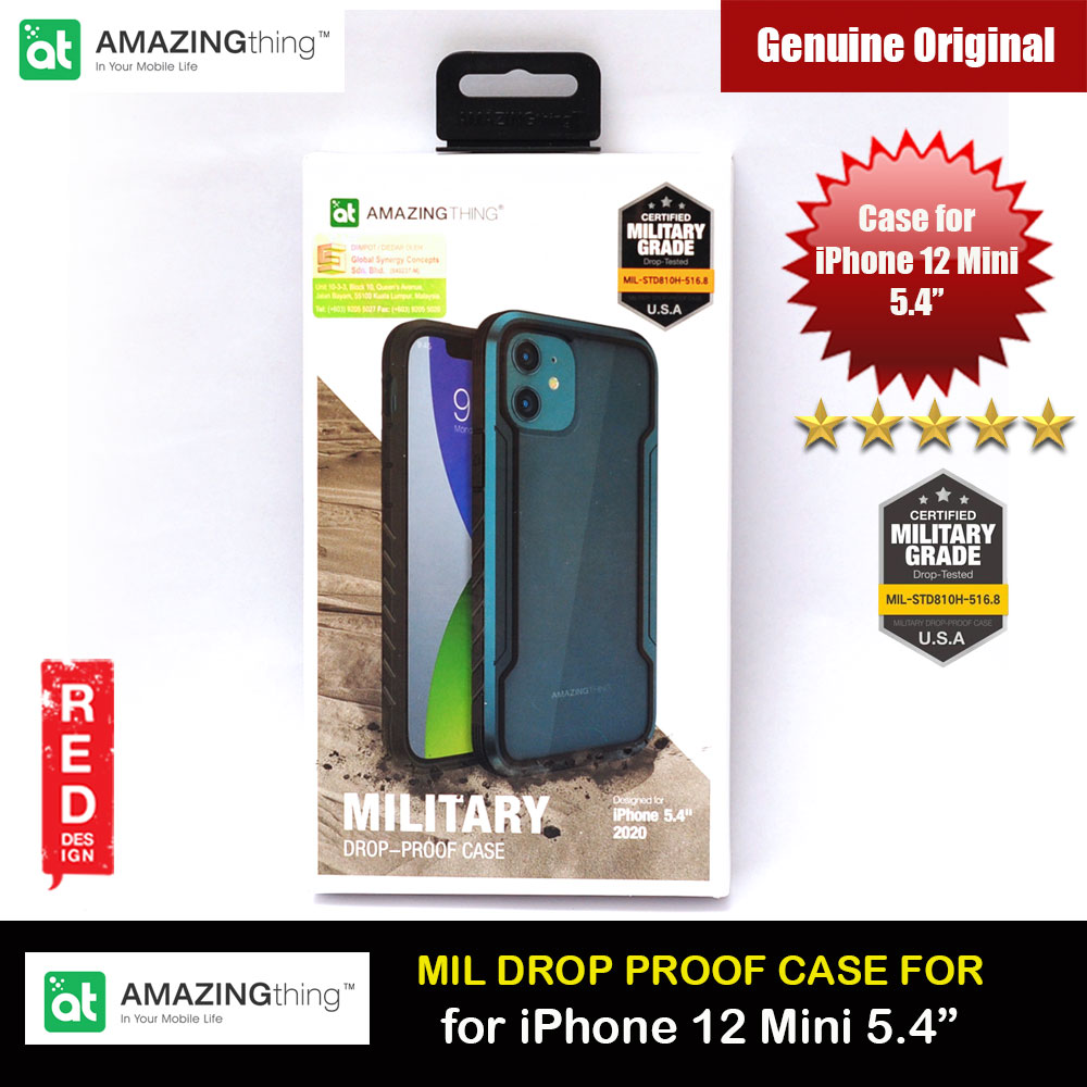 Picture of Amazingthing Military Drop Proof Case for iPhone 12 Mini 5.4 (Dark Blue) Apple iPhone 12 mini 5.4- Apple iPhone 12 mini 5.4 Cases, Apple iPhone 12 mini 5.4 Covers, iPad Cases and a wide selection of Apple iPhone 12 mini 5.4 Accessories in Malaysia, Sabah, Sarawak and Singapore