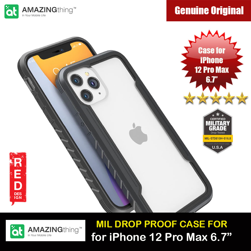 Picture of Amazingthing Military Drop Proof Case for iPhone 12 Pro Max 6.7 (Silver) Apple iPhone 12 Pro Max 6.7- Apple iPhone 12 Pro Max 6.7 Cases, Apple iPhone 12 Pro Max 6.7 Covers, iPad Cases and a wide selection of Apple iPhone 12 Pro Max 6.7 Accessories in Malaysia, Sabah, Sarawak and Singapore