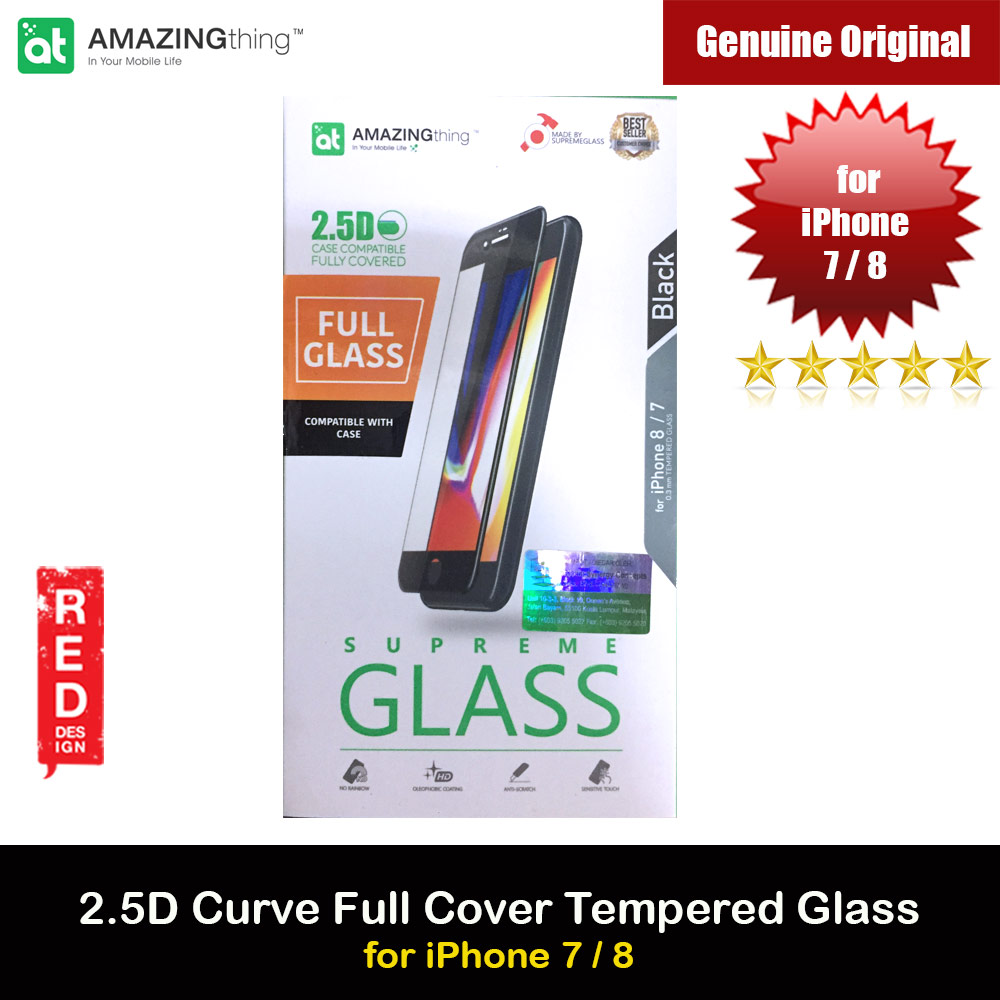 Picture of AMAZINGThing Supreme Glass 2.5D Tempered Glass for iPhone 7 iPhone 8 (Black) Apple iPhone 7 4.7- Apple iPhone 7 4.7 Cases, Apple iPhone 7 4.7 Covers, iPad Cases and a wide selection of Apple iPhone 7 4.7 Accessories in Malaysia, Sabah, Sarawak and Singapore