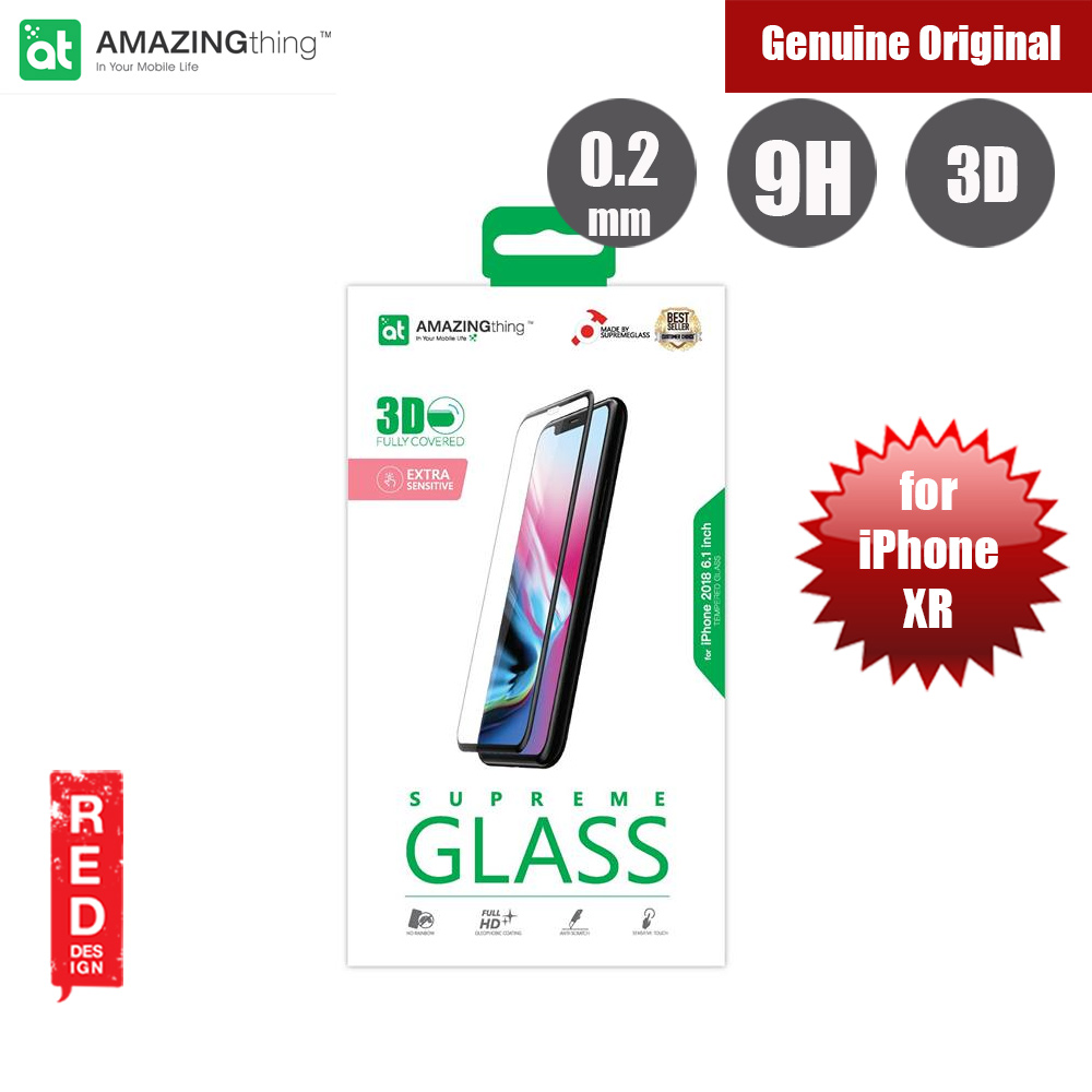 Picture of Amazingthing 3D Fully Covered Tempered Glass for Apple iPhone XR (Black) Apple iPhone XR- Apple iPhone XR Cases, Apple iPhone XR Covers, iPad Cases and a wide selection of Apple iPhone XR Accessories in Malaysia, Sabah, Sarawak and Singapore