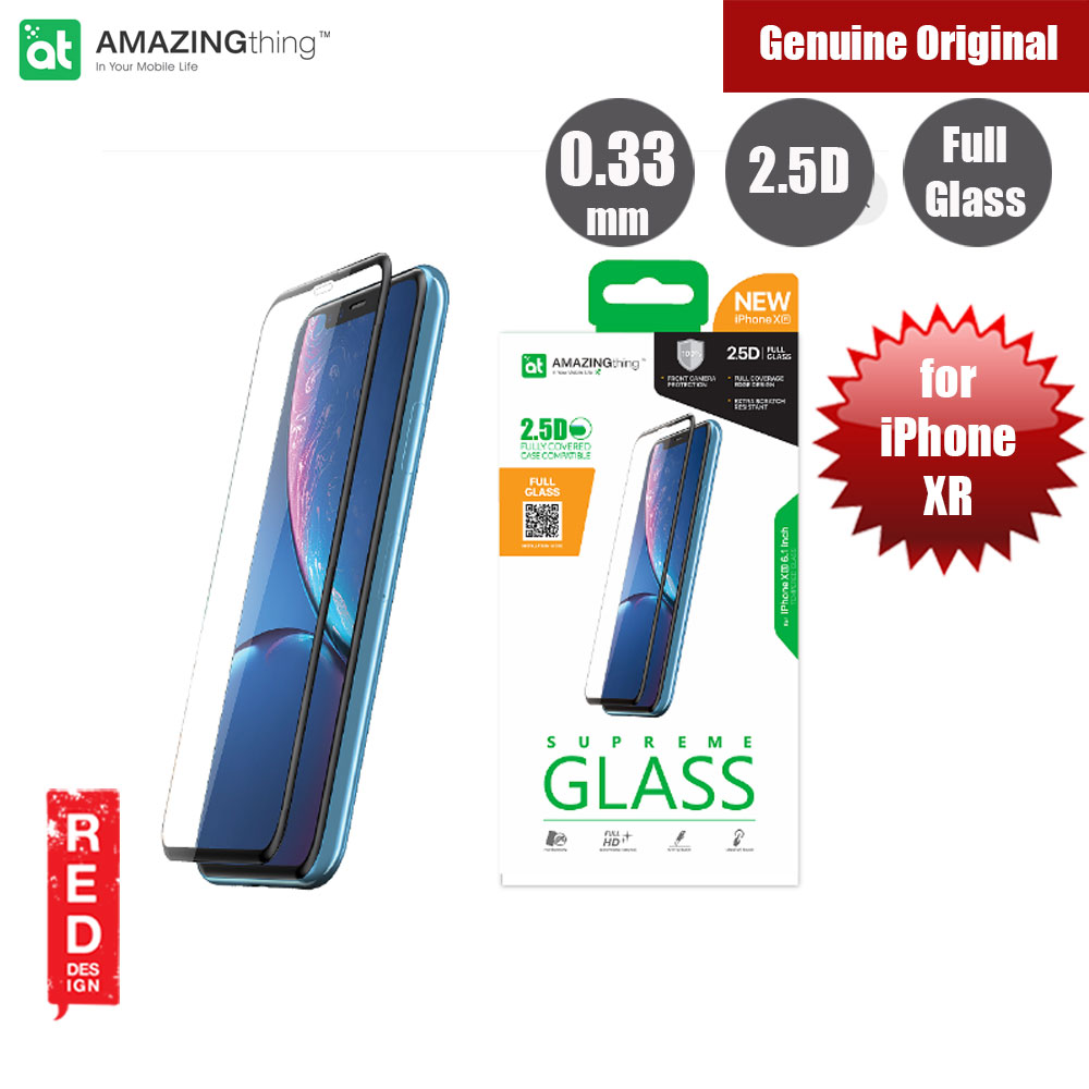 Picture of AMAZINGthng Full Coverage Full Tempered Glass for Apple iPhone XR (Black) Apple iPhone XR- Apple iPhone XR Cases, Apple iPhone XR Covers, iPad Cases and a wide selection of Apple iPhone XR Accessories in Malaysia, Sabah, Sarawak and Singapore
