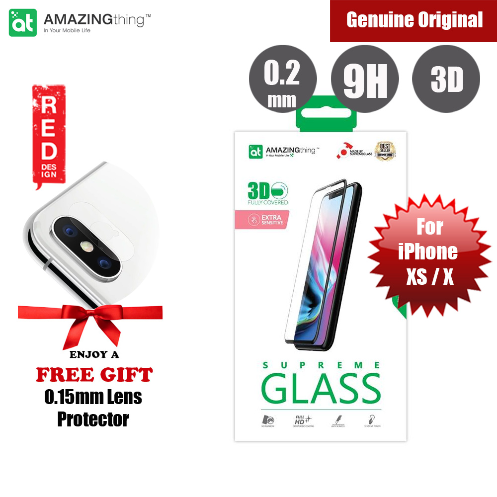 Picture of Amazingthing 3D Fully Covered Tempered Glass for Apple iPhone XS iPhone X (Black) Apple iPhone X- Apple iPhone X Cases, Apple iPhone X Covers, iPad Cases and a wide selection of Apple iPhone X Accessories in Malaysia, Sabah, Sarawak and Singapore