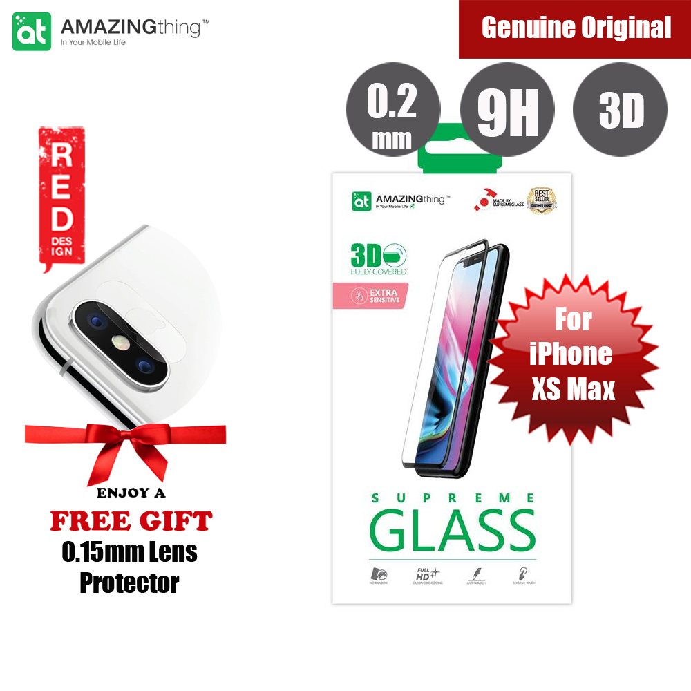 Picture of Amazingthing 3D Fully Covered Tempered Glass for Apple iPhone XS Max (Black) Apple iPhone XS Max- Apple iPhone XS Max Cases, Apple iPhone XS Max Covers, iPad Cases and a wide selection of Apple iPhone XS Max Accessories in Malaysia, Sabah, Sarawak and Singapore