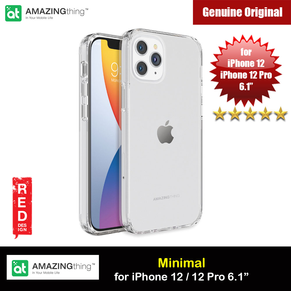Picture of Amazingthing Minimal Military Drop Proof Slim Case with antimicrobial for iPhone 12 iPhone 12 Pro 6.1 (Clear) Apple iPhone 12 6.1- Apple iPhone 12 6.1 Cases, Apple iPhone 12 6.1 Covers, iPad Cases and a wide selection of Apple iPhone 12 6.1 Accessories in Malaysia, Sabah, Sarawak and Singapore