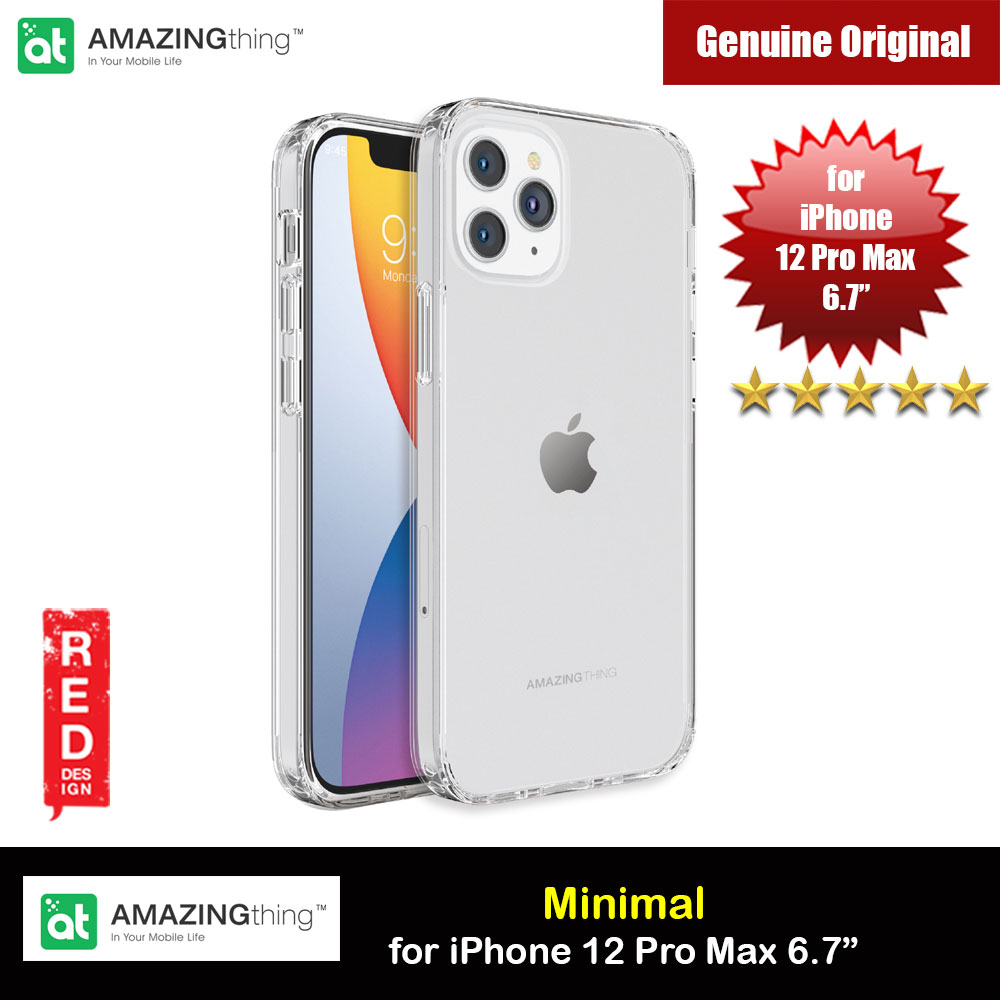 Picture of Amazingthing Minimal Military Drop Proof Slim Case with antimicrobial for iPhone 12 Pro Max 6.7 (Clear) Apple iPhone 12 Pro Max 6.7- Apple iPhone 12 Pro Max 6.7 Cases, Apple iPhone 12 Pro Max 6.7 Covers, iPad Cases and a wide selection of Apple iPhone 12 Pro Max 6.7 Accessories in Malaysia, Sabah, Sarawak and Singapore