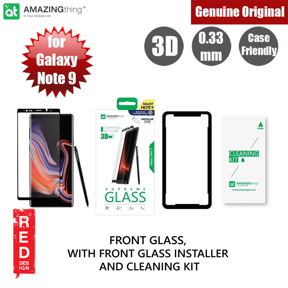 Picture of AMAZINGthing Supreme Glass 0.3mm Fully Covered Tempered Glass for Samsung Galaxy Note 9 (Black) Samsung Galaxy Note 9- Samsung Galaxy Note 9 Cases, Samsung Galaxy Note 9 Covers, iPad Cases and a wide selection of Samsung Galaxy Note 9 Accessories in Malaysia, Sabah, Sarawak and Singapore