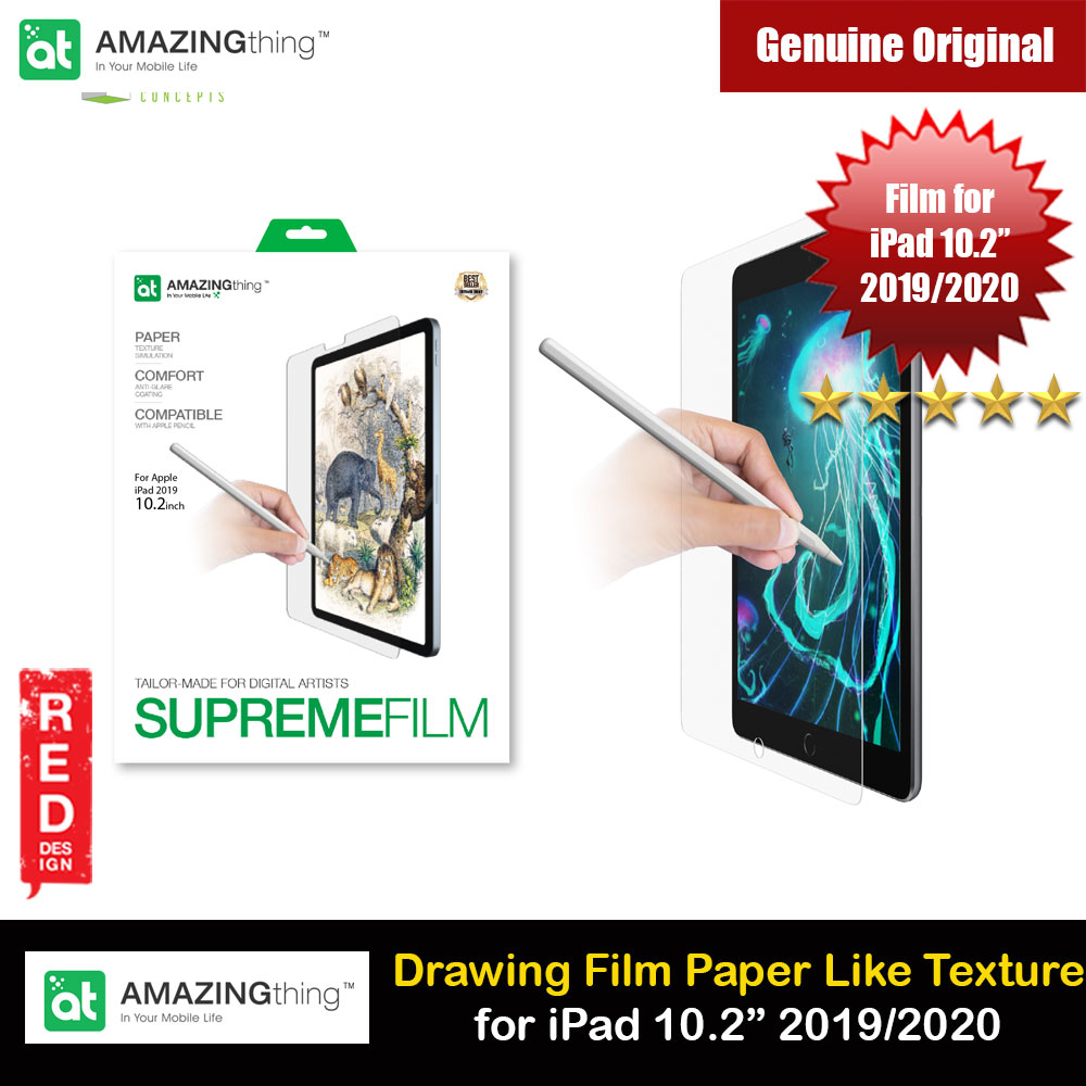 Picture of Amazingthing Supreme Film Tailored Make for Digital Artist Anti Glare Matte Drawing Film Paper Like Screen Protector for Apple iPad 10.2 2019 2020 Apple iPad 10.2 7th gen 2019- Apple iPad 10.2 7th gen 2019 Cases, Apple iPad 10.2 7th gen 2019 Covers, iPad Cases and a wide selection of Apple iPad 10.2 7th gen 2019 Accessories in Malaysia, Sabah, Sarawak and Singapore