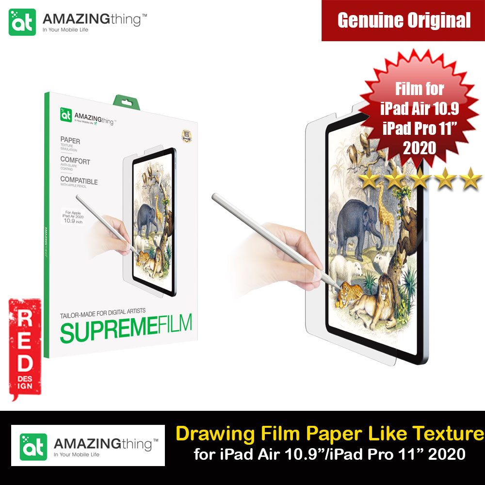 Picture of Amazingthing Supreme Film Tailored Make for Digital Artist Anti Glare Matte Drawing Film Paper Like Screen Protector for Apple iPad Air 4th Gen 10.9 2020 iPad Pro 11 2nd Gen 2020 Apple iPad Air 10.9 2020- Apple iPad Air 10.9 2020 Cases, Apple iPad Air 10.9 2020 Covers, iPad Cases and a wide selection of Apple iPad Air 10.9 2020 Accessories in Malaysia, Sabah, Sarawak and Singapore