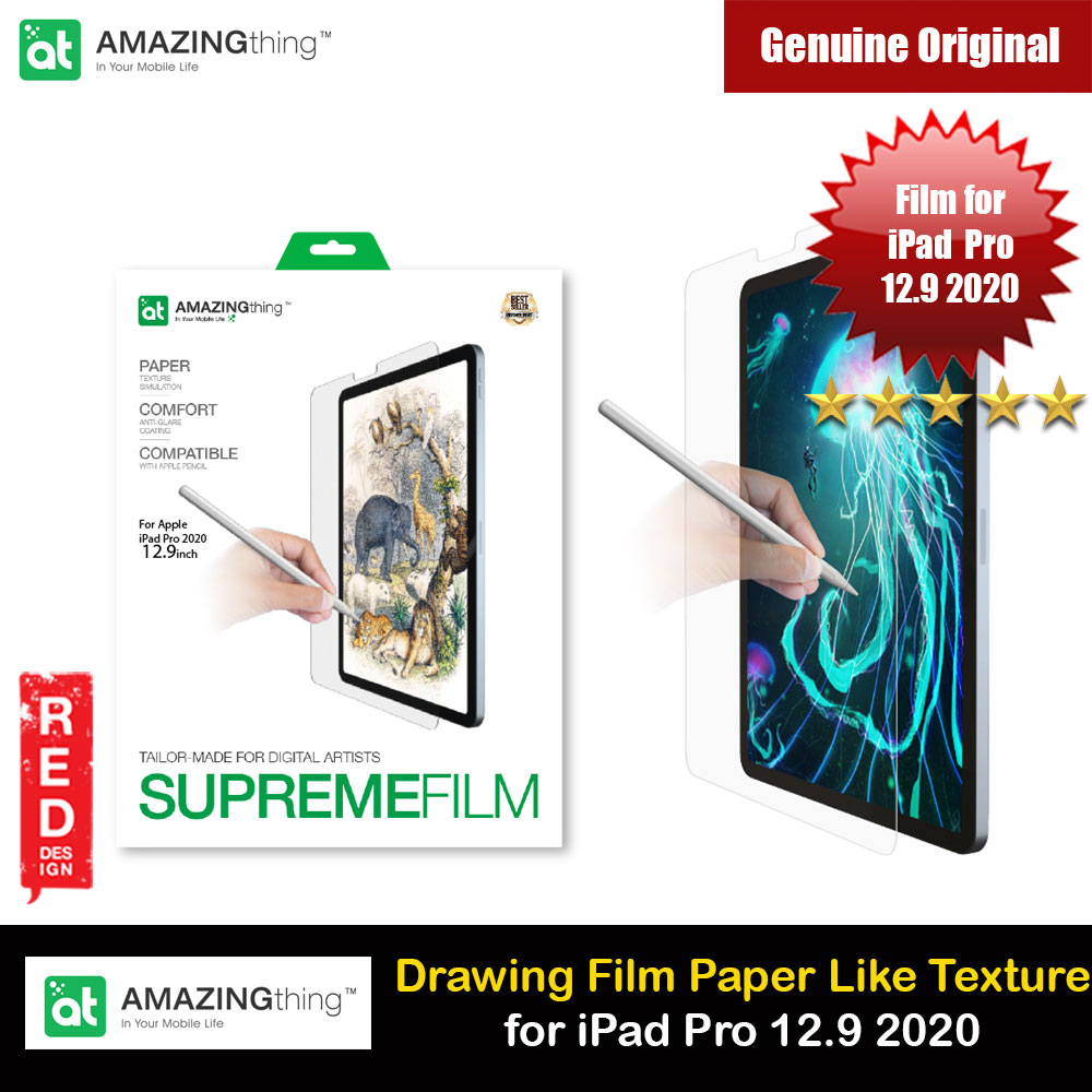Picture of Amazingthing Supreme Film Tailored Make for Digital Artist Anti Glare Matte Drawing Film Paper Like Screen Protector for Apple iPad Pro 4th Gen 12.9 2020 Apple iPad Pro 12.9 4nd gen 2020- Apple iPad Pro 12.9 4nd gen 2020 Cases, Apple iPad Pro 12.9 4nd gen 2020 Covers, iPad Cases and a wide selection of Apple iPad Pro 12.9 4nd gen 2020 Accessories in Malaysia, Sabah, Sarawak and Singapore