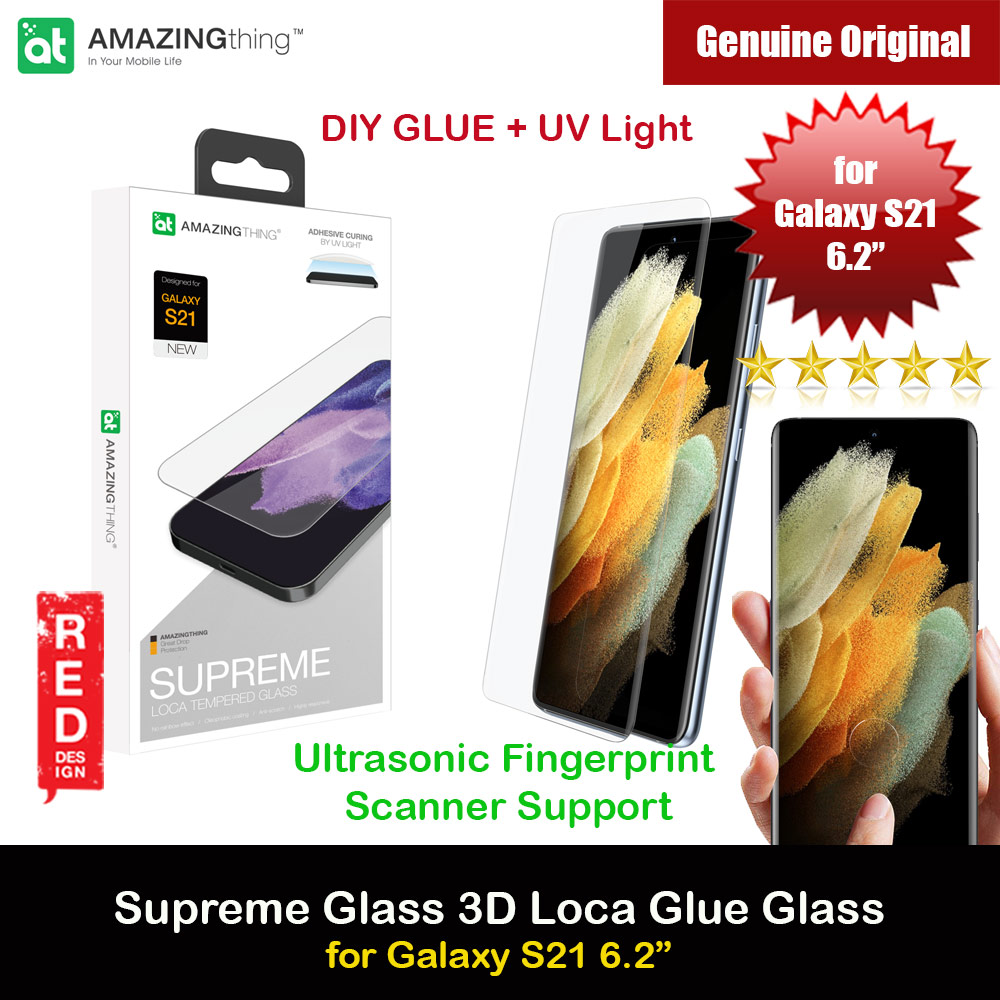 Picture of AmazingThing Supreme Glass 3D Loca Full Glue Tempered Glass with Ultrasonic Fingerprint Scanner Support for Samsung Galaxy S21 6.2 (DIY Glue Installation with UV Light) Samsung Galaxy S21 6.2- Samsung Galaxy S21 6.2 Cases, Samsung Galaxy S21 6.2 Covers, iPad Cases and a wide selection of Samsung Galaxy S21 6.2 Accessories in Malaysia, Sabah, Sarawak and Singapore