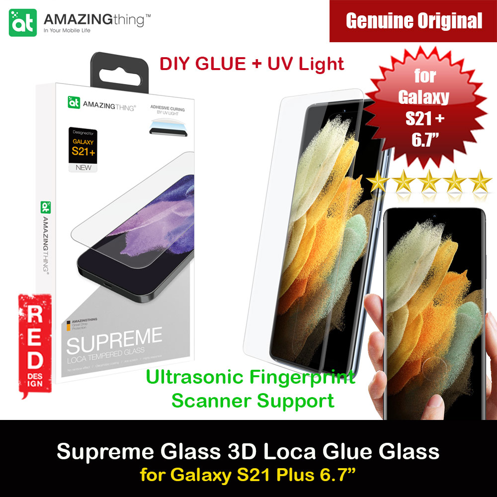 Picture of AmazingThing Supreme Glass 3D Loca Full Glue Tempered Glass with Ultrasonic Fingerprint Scanner Support for Samsung Galaxy S21 Plus 6.7 (DIY Glue Installation with UV Light) Samsung Galaxy S21 Plus 6.7- Samsung Galaxy S21 Plus 6.7 Cases, Samsung Galaxy S21 Plus 6.7 Covers, iPad Cases and a wide selection of Samsung Galaxy S21 Plus 6.7 Accessories in Malaysia, Sabah, Sarawak and Singapore