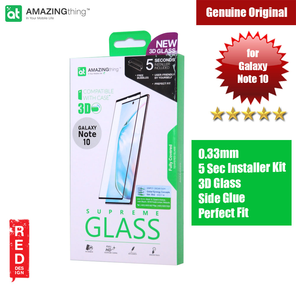 Picture of AMAZINGThing Supreme Glass 3D Side Glue Tempered Glass for Samsung Galaxy Note 10 (Black) Samsung Galaxy Note 10- Samsung Galaxy Note 10 Cases, Samsung Galaxy Note 10 Covers, iPad Cases and a wide selection of Samsung Galaxy Note 10 Accessories in Malaysia, Sabah, Sarawak and Singapore