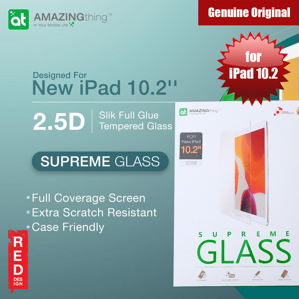 Picture of AMAZINGthing Premium SUPREMEGLASS Tempered Glass for Apple New iPad 10.2 2019 0.33mm Apple iPad 10.2 2019- Apple iPad 10.2 2019 Cases, Apple iPad 10.2 2019 Covers, iPad Cases and a wide selection of Apple iPad 10.2 2019 Accessories in Malaysia, Sabah, Sarawak and Singapore