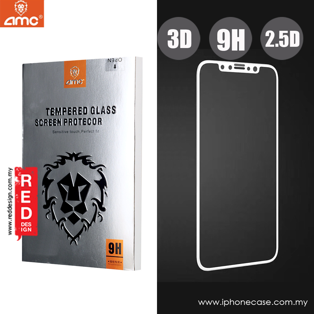 Picture of AMC 3D Full Screen Tempered Glass for Apple iPhone X  0.15 mm (White) Apple iPhone X- Apple iPhone X Cases, Apple iPhone X Covers, iPad Cases and a wide selection of Apple iPhone X Accessories in Malaysia, Sabah, Sarawak and Singapore